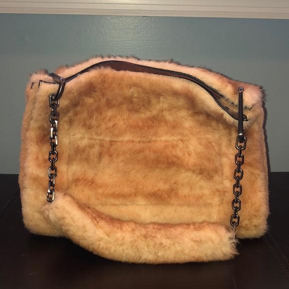 Calvin Klein Collection Handbags - Calvin Klein Collections Fur Shoulder Bag